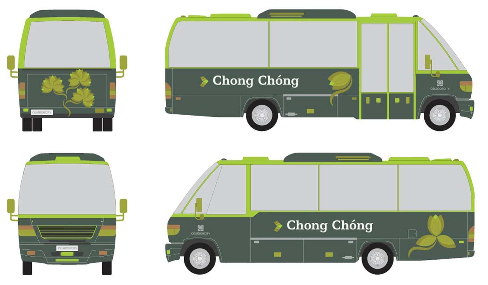 The Color Club - 11 celadon bus