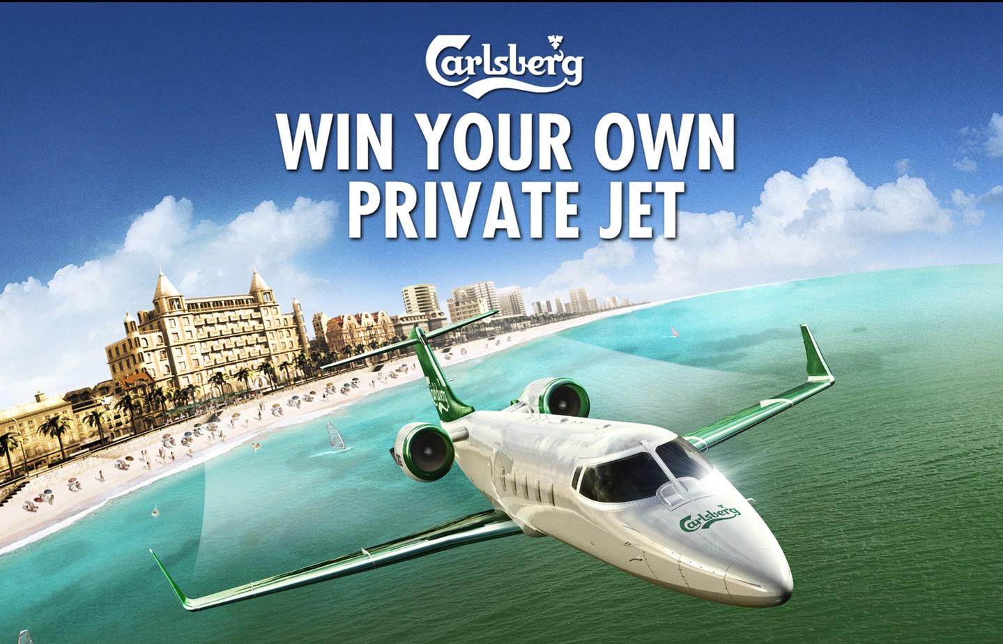 The Color Club - Carlsberg Learjet