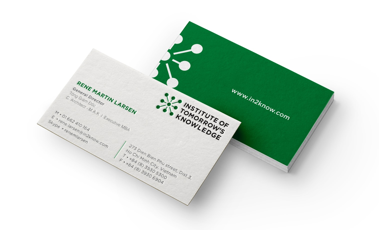 The Color Club - Business Card Mockup