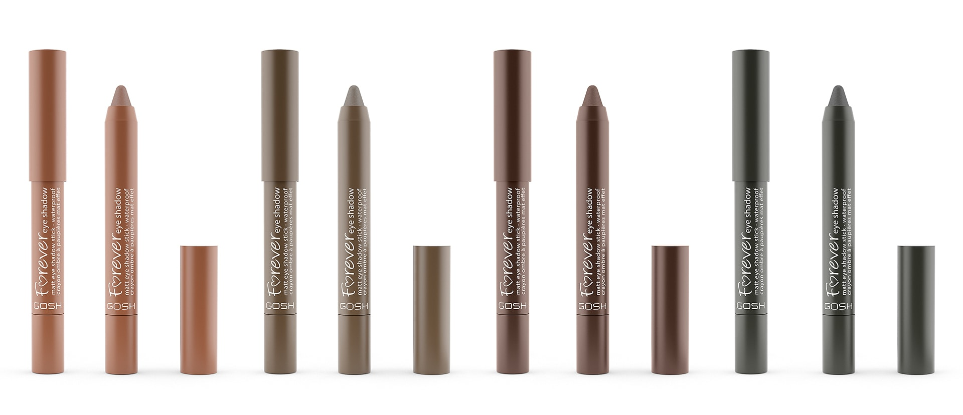 The Color Club - 8 stk Forever Eye Shadow close 1