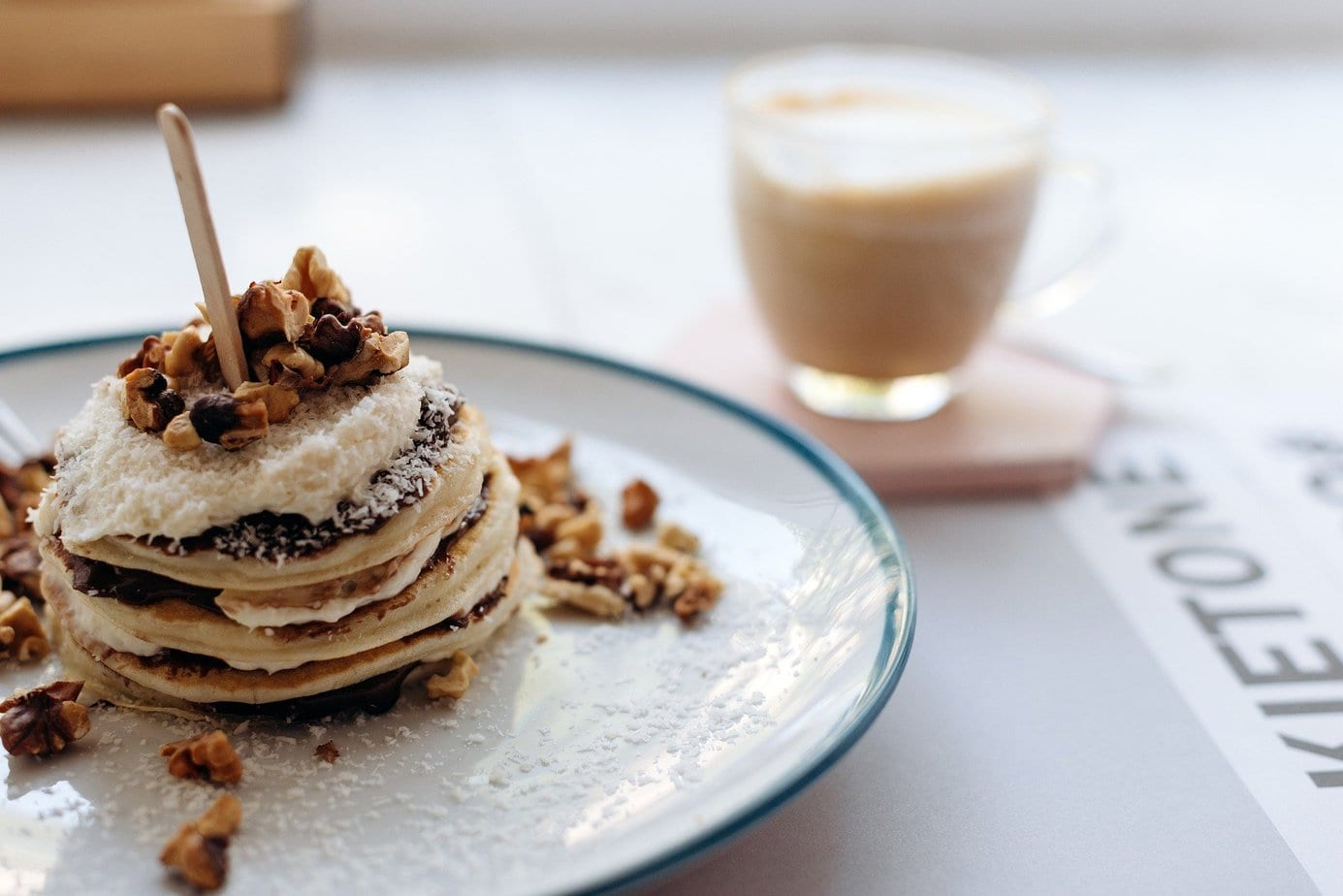Pancakes stacked on a plate - Example of visual communication