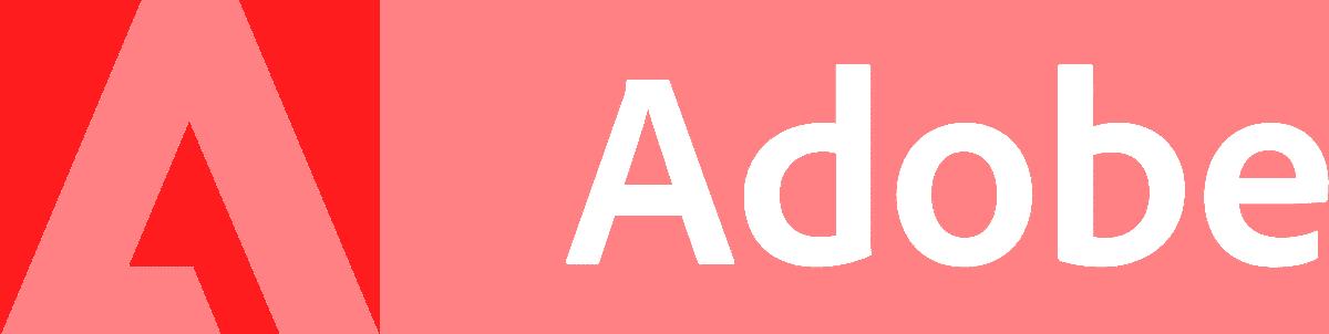 Adobe logo white